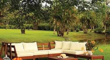 Sala de estar ao ar livre