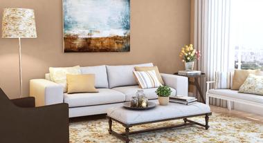 Sala de estar com decoração atemporal