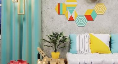 Sala de estar com decoração playtime
