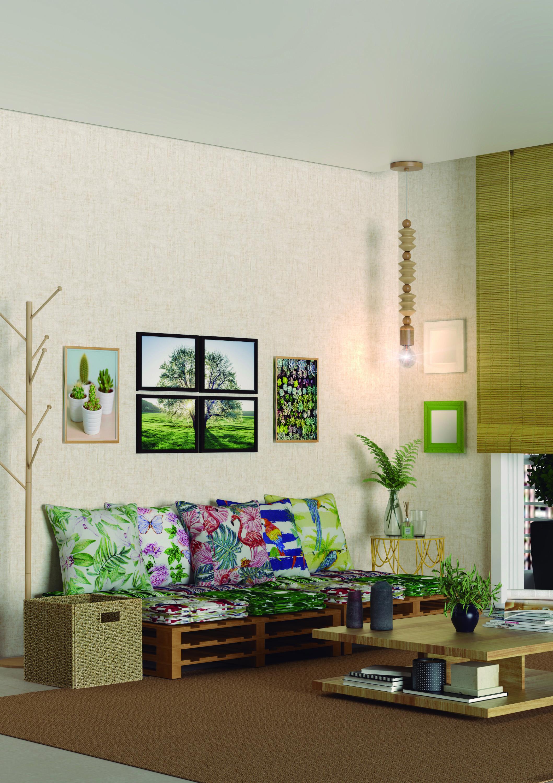 Sala De Estar Com Elementos Naturais Na Decora O Leroy Merlin -> Imagens De Sala De Estar