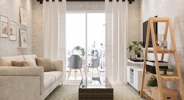 Sala de estar com tapete