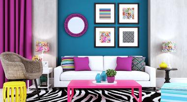 Sala de estar com visual moderno e sofisticado