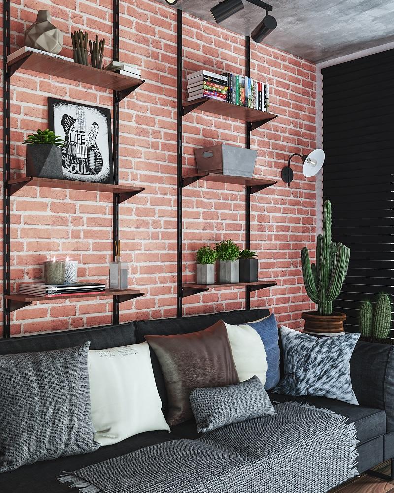 Sala de estar em estilo industrial leroy merlin for Tappeti sala leroy merlin