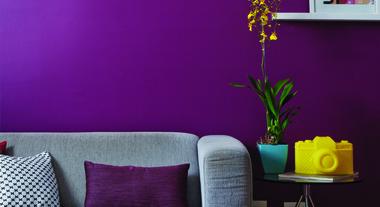Sala de estar pequena e colorida