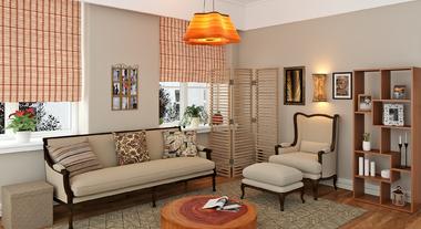 Sala de estar perfeita para descansar