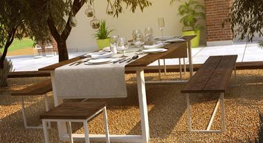 Sala de jantar ao ar livre