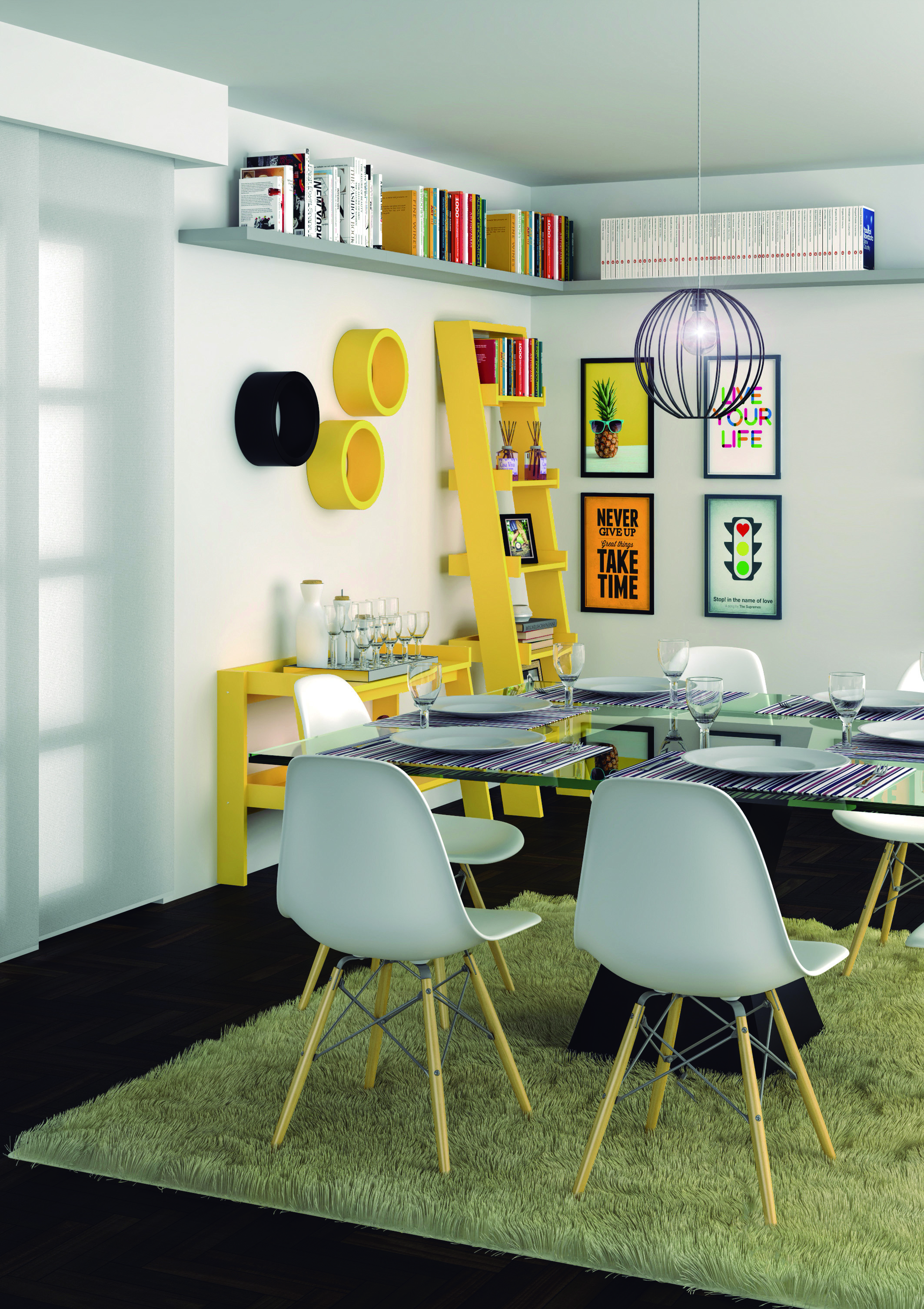 Image of: Sala De Jantar Com Decoracao Amarela Leroy Merlin