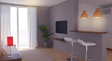 Sala e Cozinha: iluminação Integrada
