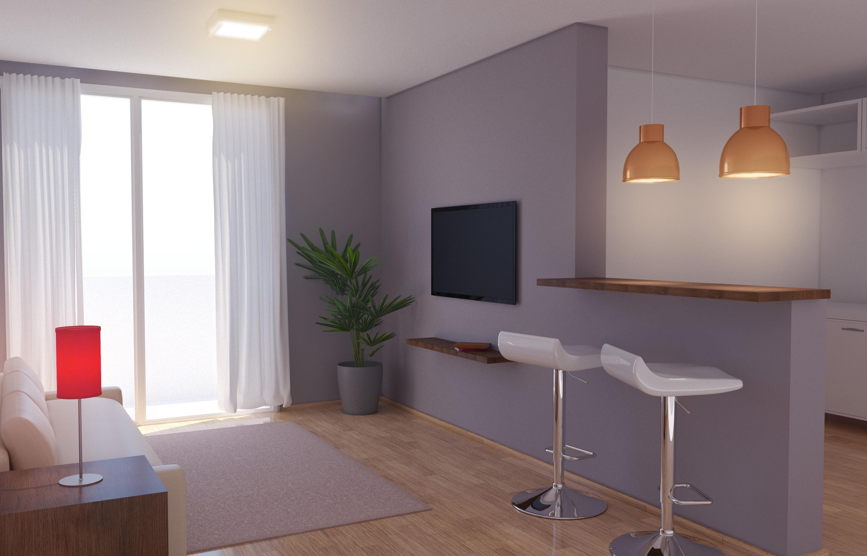 Sala E Cozinha Ilumina O Integrada Leroy Merlin