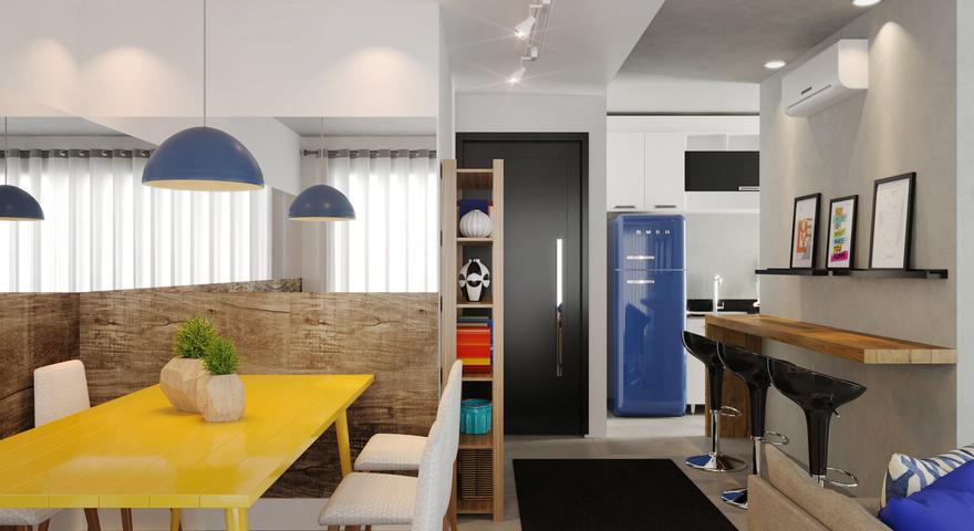 Cozinha e sala moderna integrada leroy merlin for Tappeti sala leroy merlin