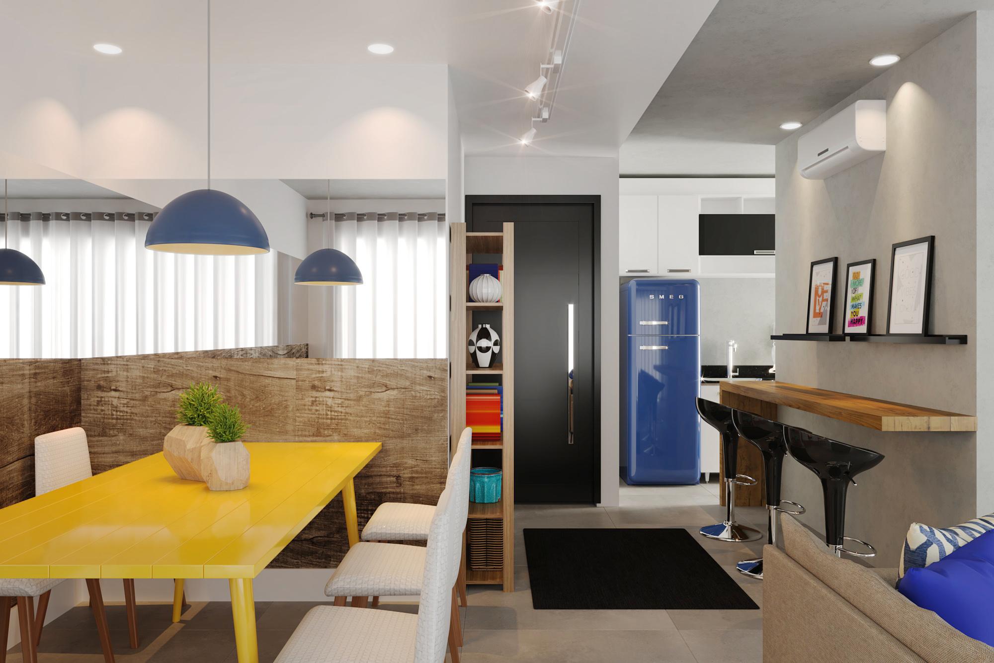 Sala integrada com piso cimento queimado leroy merlin for Tappeti sala leroy merlin