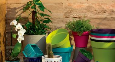 Sua planta merece um lugar de destaque com suportes, pratos e bases para vasos