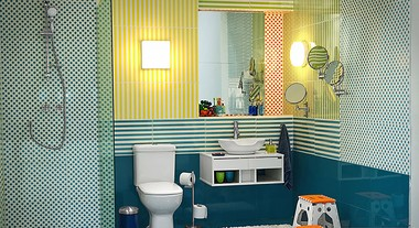 Transforme o banheiro da criançada em um local divertido e seguro