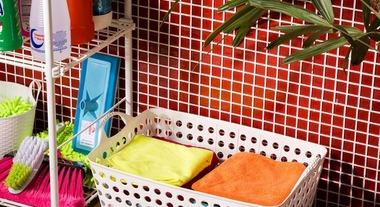 Use cestos de roupas e deixe tudo em ordem