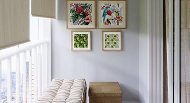 Varanda de apartamento pequena decorada