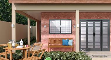 Varanda de casa com papel de parede