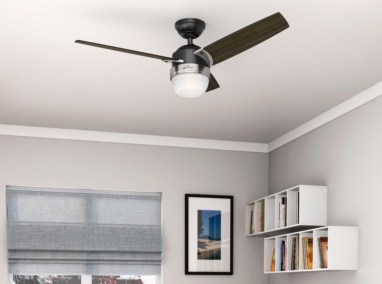 Ventilador de teto retrátil, com LED integrado e até com controle via aplicativo no smartphone