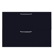 1 Gaveta e 1 Basculante Paris com Freio Cristallo Preto 2D90