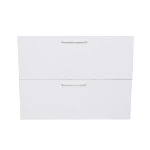1 Gaveta e 1 Porta Basculante Paris com Freio Cristallo Branco 2D80