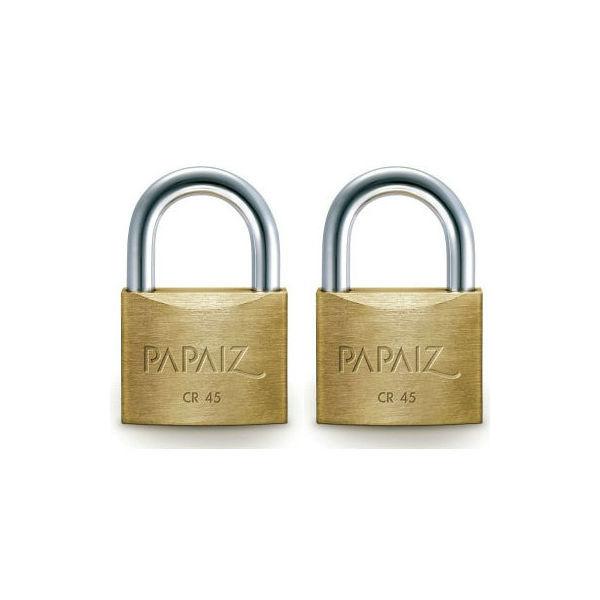 Cadeado com Chave Simples 45mm Latão Dourado Clássico Papaiz  bd0c3f36c8e8a