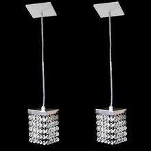 2 Pendentes de Cristal Original para 1 G9 e 2 metros de fio