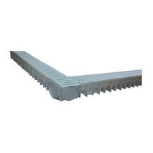 3 Canais + 3 Grelhas-Hda15 + Terminal Cinza em PVC Odem