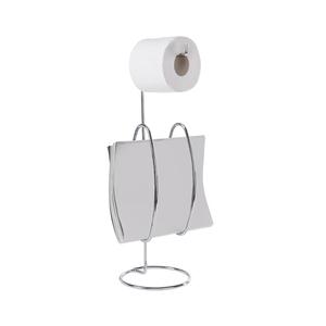 Porta papel higi nico metal simples curve brinox leroy for Portarrollos papel higienico leroy merlin