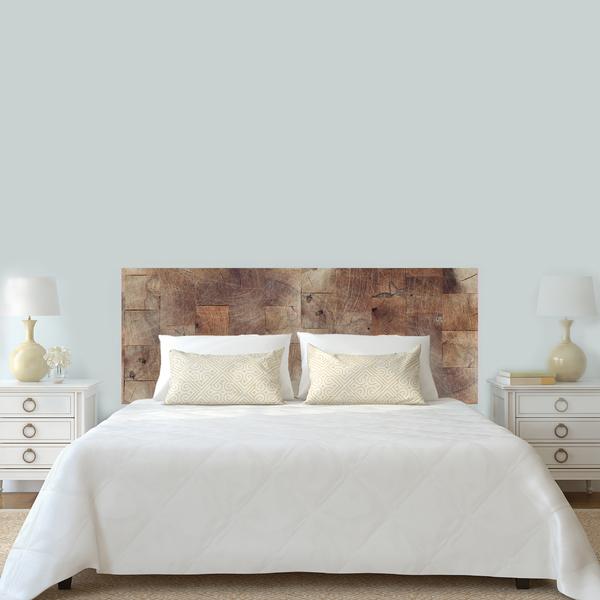 adesivo cabeceira de cama madeira marrom 60x160cm leroy