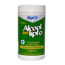 Pano umedecido limpeza-higiet alcool
