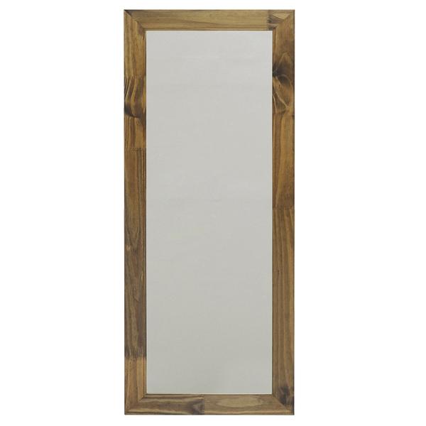 Espelho de ch o reconnection com moldura de madeira - Molduras leroy merlin ...