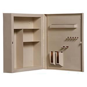 Armário de Banheiro 32x36x9cm Bege Pavão