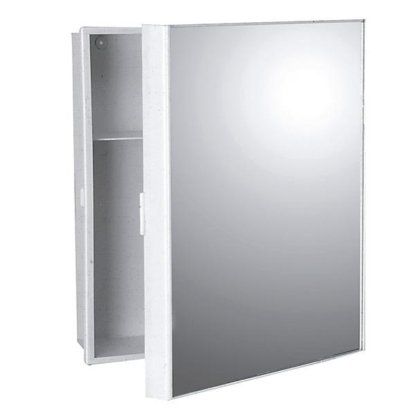 Adesivo De Coração ~ Armário com Espelho Sobrepor Branco 35x30x10cm Expambox Leroy Merlin