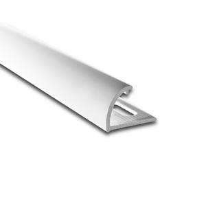 Degrau Arredondado para Piso de Embutir 3M Branco 1,4cm Alumínio