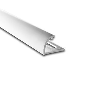Degrau Arredondado para Piso de Embutir 3M Branco 1cm Alumínio