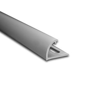 Degrau Arredondado para Piso de Embutir 3M Fosco 1,4cm Alumínio