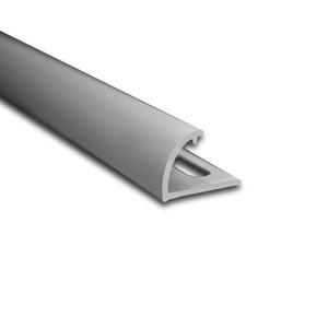 Degrau Arredondado para Piso de Embutir 3M Fosco 1cm Alumínio