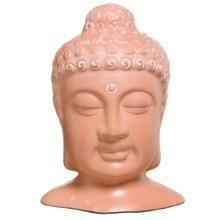 Enfeite Cerâmica Cabeça Buda Pequena Terracota Cerâmica Novo Tempo