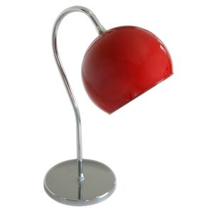 Abajur Pantoja&Carmona ABT 355 Redondo Metal e Vidro Vermelho Bivolt