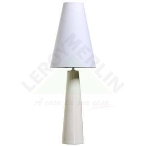 Abajur Cerâmica/Plástico 50x9cm Branco Espaço Luz