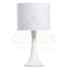 Abajur Cerâmica/Tecido 45x15cm Branco Espaço Luz