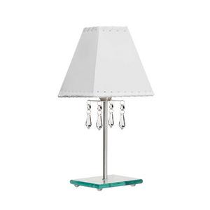 Abajur Cristal/Vidro 22x15cm Branco MM Iluminação