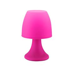 Abajur Led Inspire Tisi Redondo Plástico Rosa 3 Pilhas
