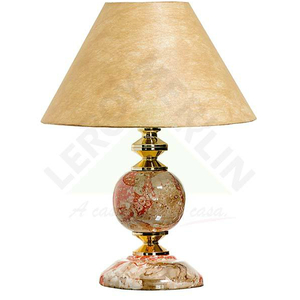 Abajur Luxo Cerâmica/Tecido 60x18cm Laranja Espaço Luz