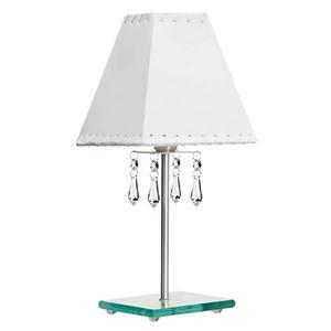 Abajur Metal/Strass 34x12cm Prata MM Iluminação