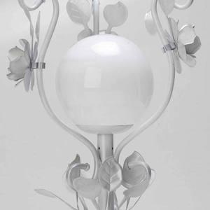 Abajur Metal/Vidro 14,5x14cm Branco MM Iluminação