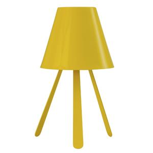 Abajur Inspire Tripé Redondo Alumínio Amarelo Bivolt