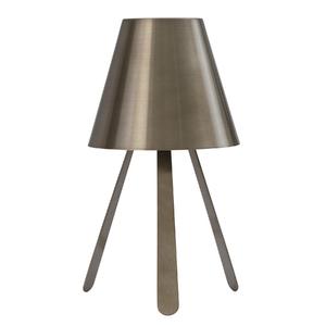 Abajur Inspire Tripé Redondo Alumínio Bronze Bivolt