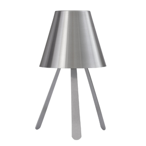 Abajur Inspire Tripé Redondo Alumínio Prata Bivolt