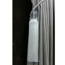 Abraçadeira Acrílico Transparente Off White