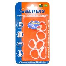 Abraçadeira Fecho Contato Branco 90x10 mm 6 Peças Better's